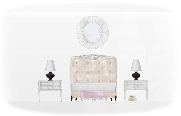 首页 蓬巴杜产品中心 卧室家具系列 床 20-0500蓬巴杜欧式家具cg家具