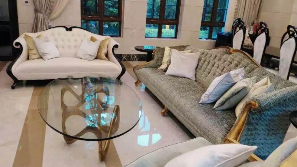 蓬巴杜CG系列——绿城御园客厅家居