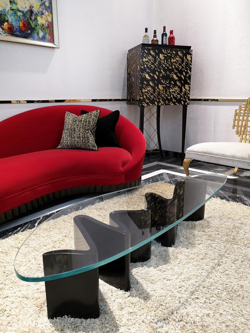 蓬巴杜CG家具时尚客厅案例