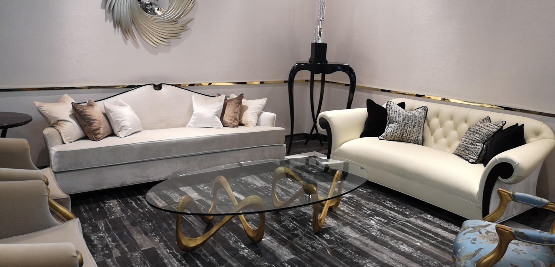 蓬巴杜CG家具客厅三人主沙发案例