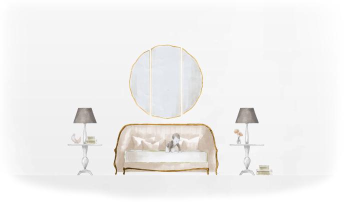 46-0262蓬巴杜cg家具欧式家具装饰品|摆件|蓬巴杜