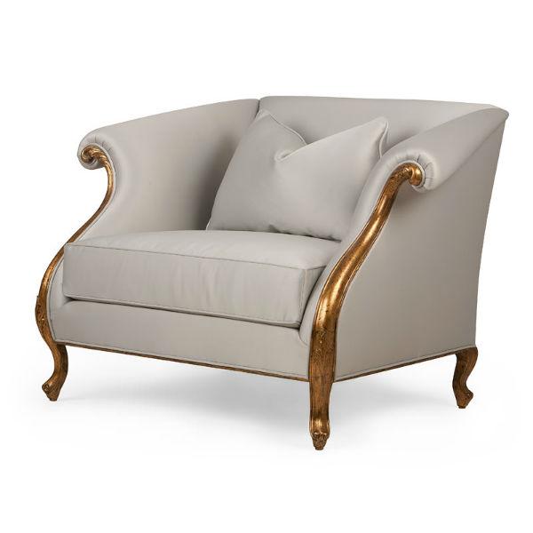 60-0362蓬巴杜别墅家具CG家具单人沙发