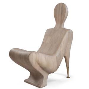60-0418 蓬巴杜别墅家具CG家具单人休闲椅