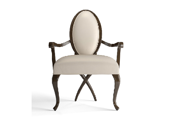 30-0043蓬巴杜高端定制家具CG家具无扶手餐椅