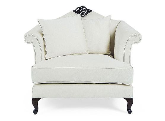 60-0045蓬巴杜别墅家具单人沙发