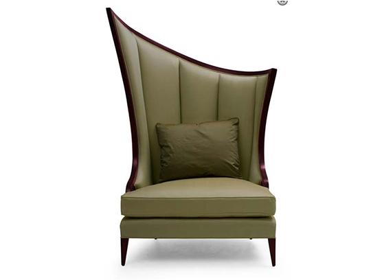 60-0214蓬巴杜CG家具酒店家具休闲沙发