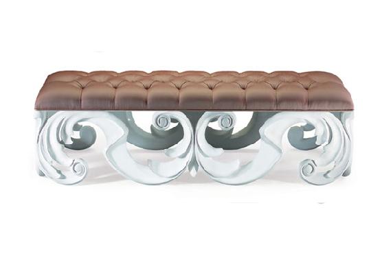60-0240蓬巴杜新古典后现代家具CG家具床尾凳