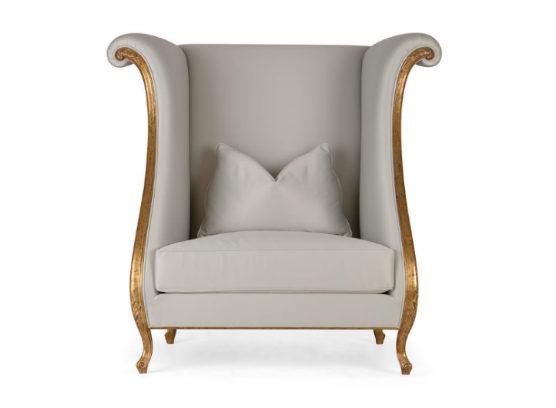 60-0360蓬巴杜别墅家具CG家具单人沙发