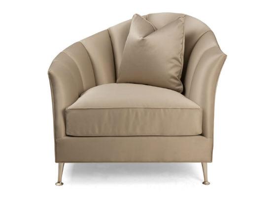 60-0390蓬巴杜别墅家具单人沙发