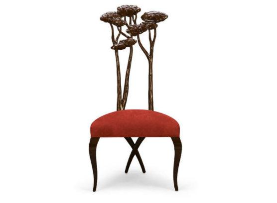 30-0086蓬巴杜新古典CG家具后现代家具灵芝餐椅